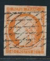 N°5 - 40c Orange - Signé Brun - TB - 1849-1850 Ceres