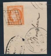 N°5 - Obl. Grille + T12 VOUZIERS - 12/02/50 - B/TB - 1849-1850 Ceres