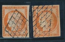 N°5 X 2ex - Défts - Obl. Grille Et Grille Sans Fin - TB - 1849-1850 Ceres