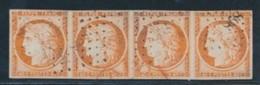 N°5 - 40c Orange - Bde De 4 - Obl. PC 898 - TB - 1849-1850 Ceres