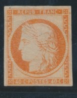 N°5 - 10c Orange - Comme ** - Petite Marge En Bas - TB - 1849-1850 Ceres