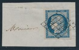 N°4a - Obl. Grille - 25c Bleu Foncé - TB - 1849-1850 Ceres
