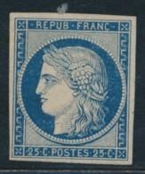 N°4a - Bleu Foncé - Signé Calves - TB - 1849-1850 Ceres