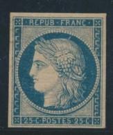 N°4a - 25c Bleu Foncé - Signé BALASSE - TB - 1849-1850 Ceres