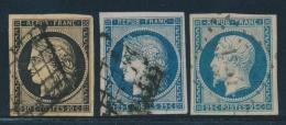 N°3, 4, 10 - Margés - TB - 1849-1850 Ceres