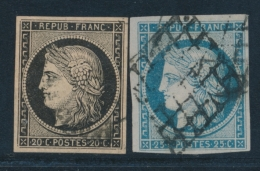 N°3/4 - Obl. Grille - TB - 1849-1850 Ceres