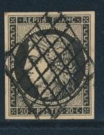 N°3 - Obl. Grille - Belles Marges - TB - 1849-1850 Ceres