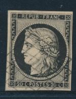 N°3 - Obl. Grille Légère - SUP - 1849-1850 Ceres