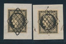 N°3 - Obl. Grille - Noir S/jaune Foncé - TB/SUP - 1849-1850 Ceres