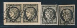N°3 X 4 Ex Dt 1 Paire - TB - 1849-1850 Ceres