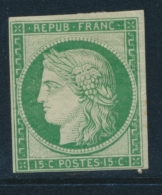 N°2c - Réimpression Du 15c - Clair - Notifié Calves - 1849-1850 Ceres
