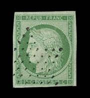 N°2 - 15c Vert - Signé - TB - 1849-1850 Ceres