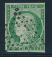 N°2 - 3 Marges - La 4° Au Filet Non Touch& - Signé Calves - B/TB - 1849-1850 Ceres