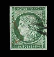N°2 - 15c Vert - Obl. Grille Sans Fin - TB - 1849-1850 Ceres