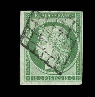 N°2 - Obl. Grille - Signé Calves - TB - 1849-1850 Ceres