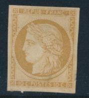 N°1f - Réimpression Du 10c - Petit Clair En Marge - 1849-1850 Ceres