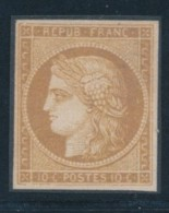 N°1c - 10c Bistre Verdâtre Foncé - Rare - Signé Calves/Pavoille - TB - 1849-1850 Ceres