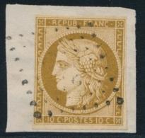 N°1b - Bistre Verdâtre -  Obl. PC - Signé Calves - TB - 1849-1850 Ceres
