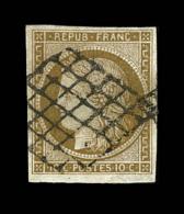 N°1b - Bistre Verdâtre - TB - 1849-1850 Ceres