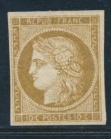 N°1a - Bistre Brun - Signé JF Brun - TB - 1849-1850 Ceres