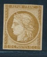 N°1a - Bistre Brun - Filet Sup. Effleuré - Sinon TB - Signé Calves - 1849-1850 Ceres