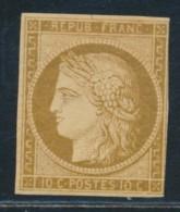 N°1a - 10c Bistre Brun - Petite Marge à Droite - Signé JF Brun - B/TB - 1849-1850 Ceres