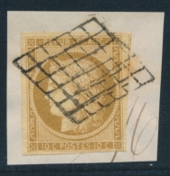 N°1 - 10c Bistre - Obl Grille - TB - 1849-1850 Ceres