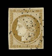 N°1 - 10c Bistre - TB - 1849-1850 Ceres