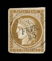 N°1 - 10c Bistre - Obl. Càd - Signé Calves/Roumet - TB - 1849-1850 Ceres