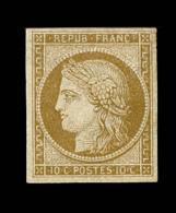 N°1 - 10c Bistre - Signé Calves - Certif. - TB - 1849-1850 Ceres