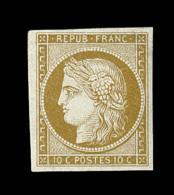 N°1 - 10c Bistre - Comme ** - Signé Brun - TB - 1849-1850 Ceres