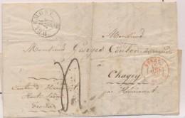 N°690 - BERNE/DELLE (Rge) - 15/1/50 - De DELEMONT Pr CHAGEY - 14/1/50 - B/TB - Postmark Collection (Covers)