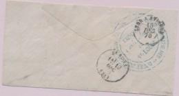 T16 ST Louis - 19/1270 + Amb LYON A AVIGNON - Grand Cachet Bleu - Comité Auxiliaire De ST Louis - Secours Aux Ble - Postmark Collection (Covers)