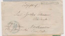 LUTZELBOURG - Encadré - 1870 - Cachet Aigle (B) Sonderhausen - Pr Nordhausen - Postmark Collection (Covers)