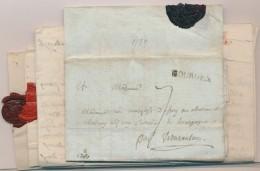 BOURGES - 7 Plis - Pér. 1776/85 - à Dest. D'AVALONS (Bourgogne) - B/TB - Postmark Collection (Covers)