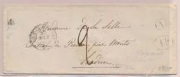 80 Monts S/Couesnes - Au Verso D'une Lsc - Obl Du 27/8/40 De Doué La Fontaine - Pr Loudun - B/TB - Postmark Collection (Covers)