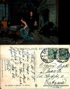 6581a)cartolina-  LA PARTITA A SCACCHI-G.INDUNO - Illustrateurs & Photographes
