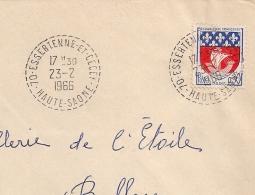 Cachet  Tireté 70. ESSERTENNE ET CECEY Haute Saone Sur Enveloppe. 1966. - Postmark Collection (Covers)