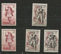 1953 - Yvert N° 943/944 ** (MNH) Et Oblit. (o)  + 1 FDC - France