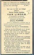 OORL/ DOODSPRENTJE ° STABROEK 1909 + BIJ SPOORRAMP ISENBUTTEL DUITSLAND 1941  PETRUS VAN LINDEN - Devotion Images