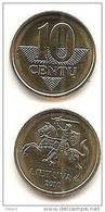Lithuania - Lietuva  2010 Regular Coin 10 Cetai UNC - Litouwen