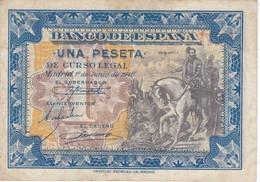 BILLETE DE ESPAÑA DE 1 PTA DEL 1/06/1940 SERIE D CORTES CALIDAD MBC (VF) (BANKNOTE) - [ 3] 1936-1975 : Régence De Franco