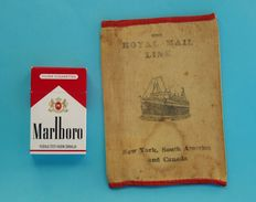 THE ROYAL MAIL LINE ( New York - South America - Canada ) Antique Canvas Emigrants Ticket And Passport Wallet Late 1800s - Boats