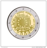 Chipre 2 Euro Cc  30ª Bandeira Europa  2015  UNC - Chypre