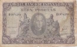 BILLETE DE ESPAÑA DE 100 PTAS DEL 9/01/1940 SERIE E  EN CALIDAD RC  (BANKNOTE) - [ 3] 1936-1975 : Régimen De Franco