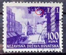 LANDSCAPES-BANJA LUKA-100 K-FI-PHILATELIC EXHIBITION-ERROR H-RARE-NDH-CROATIA-1942 - Croatia