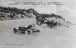 CPA.- FRANCE - Le Mont-Ventoux - Course Intern. D'Autos - CARRACCIOLA Au Dernier Virage - Très Belle Animation - TBE - Autres Communes