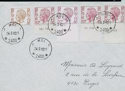 Doc. De MOL 7  (2400)  Le 24/03/1983  (avec Bord De Feuille Daté Sur Les Baudouin 1*) - Marcophilie