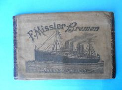 F. MISSLER - BREMEN Germany Antique Canvas Emigrants Ticket And Passport Wallet Late 1800´s & Early 1900´s * Ship Schiff - Boats
