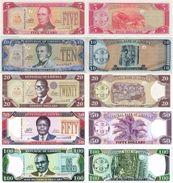 LIBERIA 5 10 20 50 100 Dollars Complete Set 2004-11 P 26 - 30 UNC - Liberia